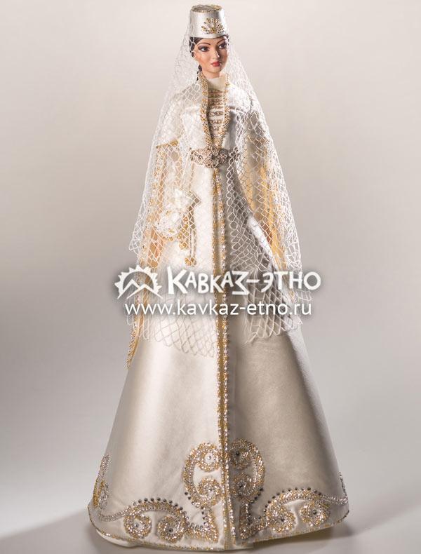 Кукла в ингушском национальном свадебном костюме