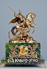 Часы с бронзовой скульптурой Георгия Победоносца