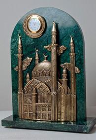 Часы «Мечеть Кул-Шариф» бронза, камень