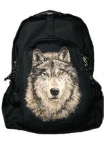 Рюкзак черный «Волк»