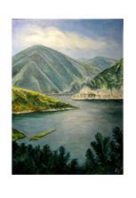 Авторская картина «Чечня, озеро Казеной-Ам»