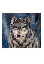 Картина Снежный волк