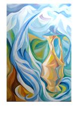 Картина маслом «Горный ручей»