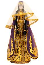Кукла в женском осетинском национальном платье