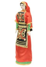Кукла женская в дагестанском национальном платье
