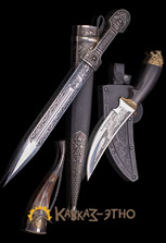 Кинжал, нож и рог