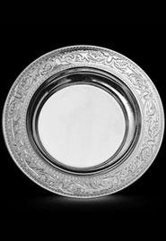 Серебряная тарелка ручной работы